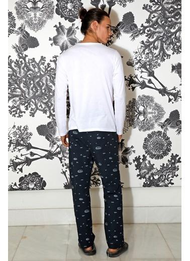 Hays Erkek Uzun Kollu Pijama Takımı Lacivert